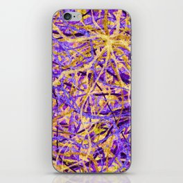 Purple and Gold Celebration iPhone Skin