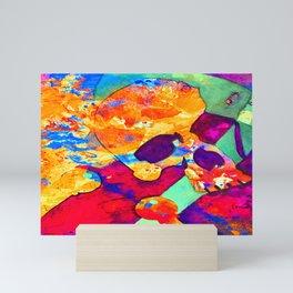 Orange skull Mini Art Print