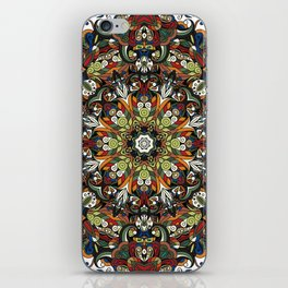 Boho Geometric Mandela Pattern 1 iPhone Skin