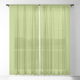 Green Celery Sheer Curtain