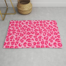 Pink Leopard Pattern Rug