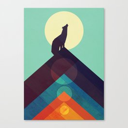 Howling Wild Wolf Canvas Print
