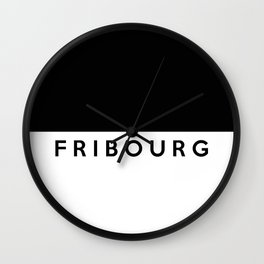 fribourg region switzerland country flag name text swiss Wall Clock