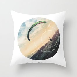 Skydive Gravity - Geometric Photography Throw Pillow
