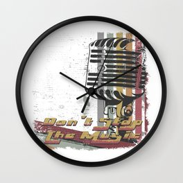 DON´T STOP THE MUSIC Wall Clock