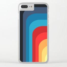Retro Rainbow 01 Clear iPhone Case