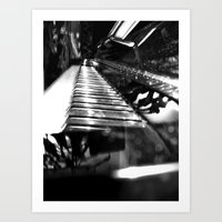 piano Art Prints featuring Piano by Claire Filz