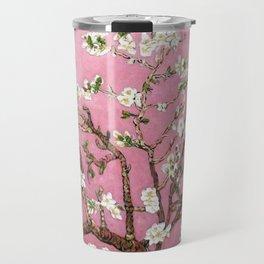Vincent van Gogh Blossoming Almond Tree (Almond Blossoms) Pink Sky Travel Mug