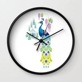 Indian Blue Peacock [Pavo Cristatus] Wall Clock