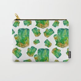 Emerald Birthstone Watercolor Illustration Carry-All Pouch