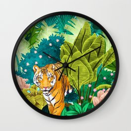 Jungle Tiger Wall Clock