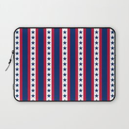 OK USA United States American Flag Print Seamless Pattern Laptop Sleeve