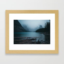 Foggy Moraine Framed Art Print