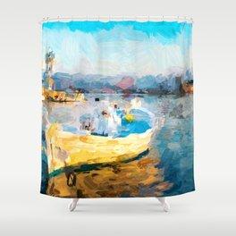 Fischerboot Shower Curtain