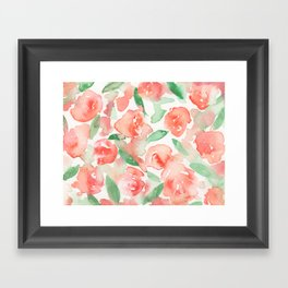 flores de agua Framed Art Print