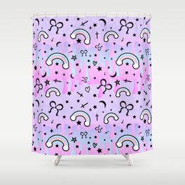 Cute Melting Pastel Chaos Shower Curtain
