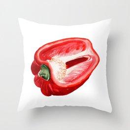 Half of paprika Throw Pillow