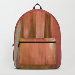 Blush with Gold Abstract Backpack
