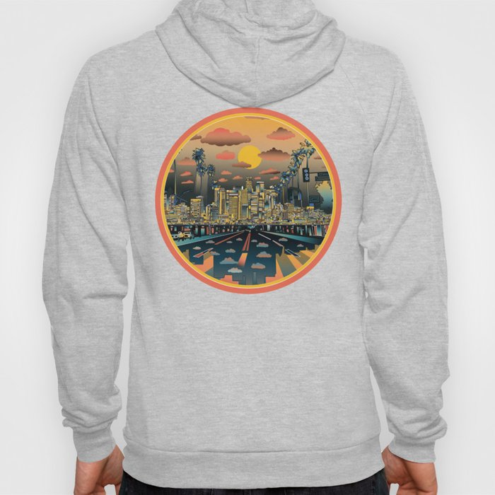 los angeles city skyline Hoody