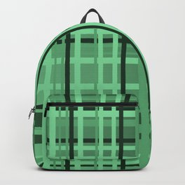 checkered Design green Backpack
