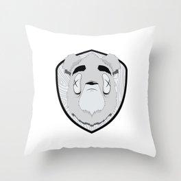 Dead Bear Throw Pillow