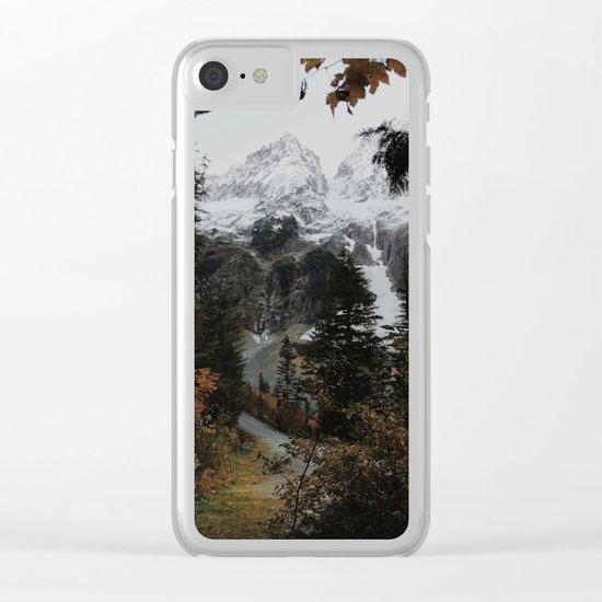 Cascade River Rd Clear iPhone Case