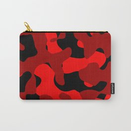 Black and Red Camo abstract Carry-All Pouch