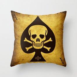Death Card - Ace Of Spades Throw Pillow