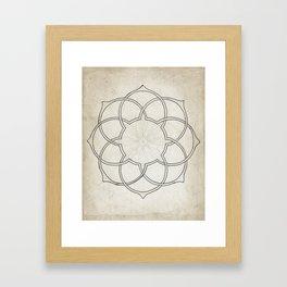 Geometry Sketch Eleven Framed Art Print