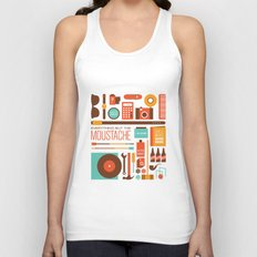 Everything But The Moustache Unisex Tank Top