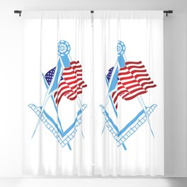 USA freemasonry symbol Blackout Curtain
