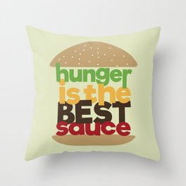 the best sauce Throw Pillow