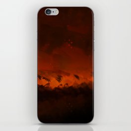Wild fire landscape nature illustration iPhone Skin