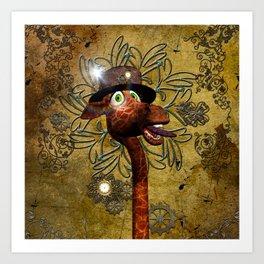 Steampunk, giraffe Art Print