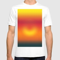 sunset abstract MEDIUM White Mens Fitted Tee