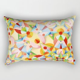 Pastel Carousel Rectangular Pillow