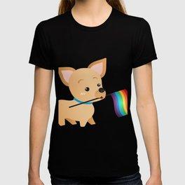 LGBT Gay Pride Flag Chihuahua T-shirt