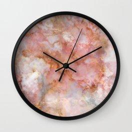 Beautiful & Dreamy Rose Gold Marble Wall Clock