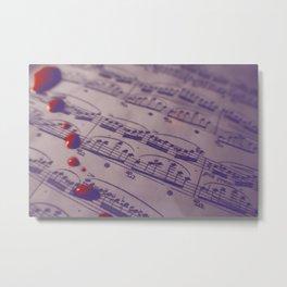 Note Trails Metal Print