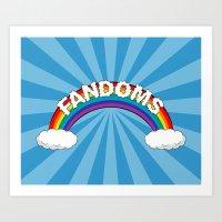 Fandoms Art Print