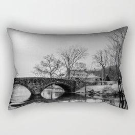 Clove Lakes Rock Bridge Rectangular Pillow
