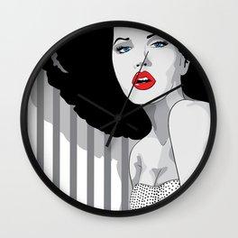 Woman hair Wall Clock