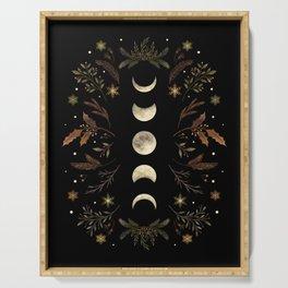 Moonlight Garden - Winter Brown Serving Tray
