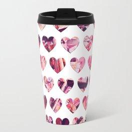 Crystal Hearts Pattern Travel Mug