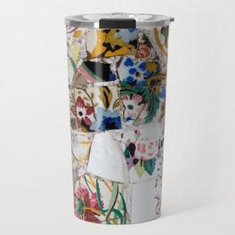 Mosaic Colored Ceramic Tile Pattern Travel Mug