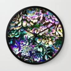 Colorful Abstract Plants Wall Clock