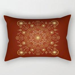 Clockwork Compass in Red Rectangular Pillow