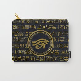 Gold Egyptian Eye of Horus - Wadjet Carry-All Pouch