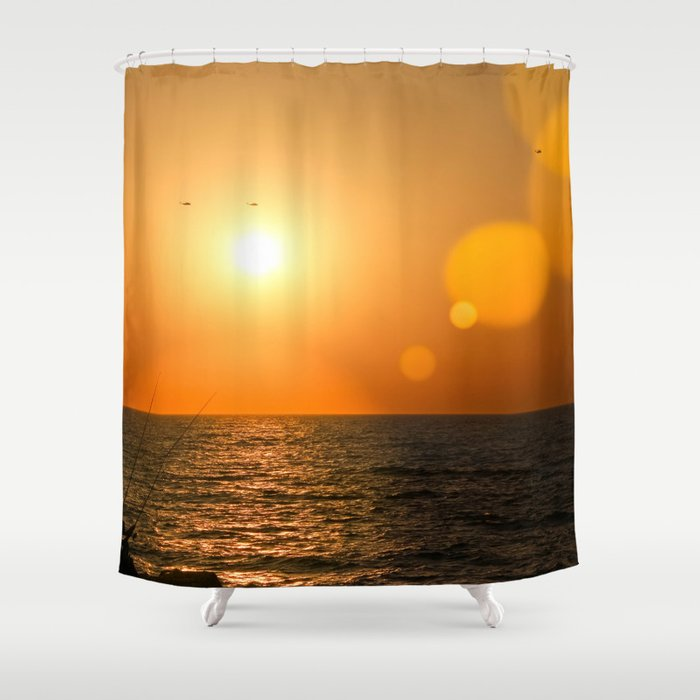 Sunset Tel Aviv Shower Curtain