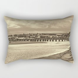 Bideford Long Bridge Devon Sepia Rectangular Pillow